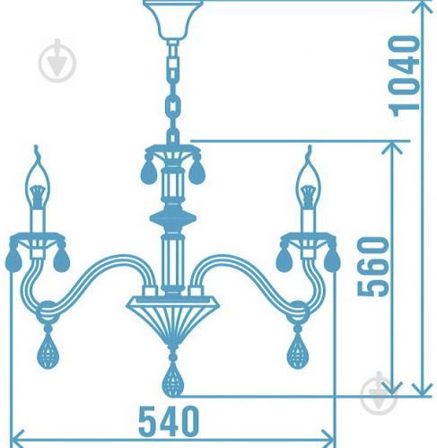 Люстра подвесная Victoria Lighting 3x40 Вт E14 белый Arumi/SP3 - фото 4