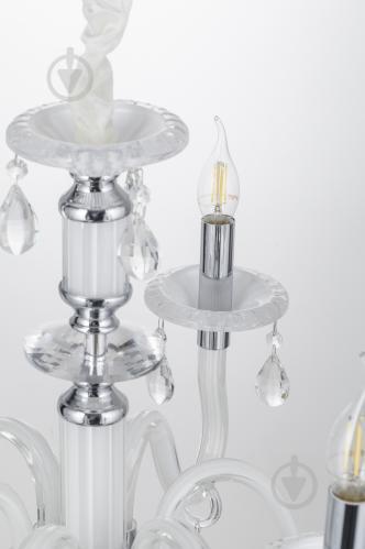 Люстра подвесная Victoria Lighting 6x40 Вт E14 белый Arumi/SP6 - фото 16