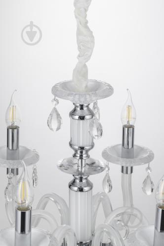 Люстра подвесная Victoria Lighting 6x40 Вт E14 белый Arumi/SP6 - фото 8