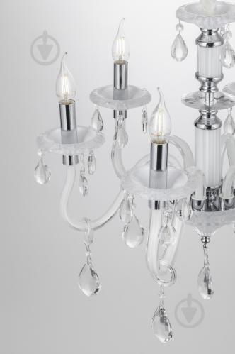 Люстра подвесная Victoria Lighting 6x40 Вт E14 белый Arumi/SP6 - фото 18