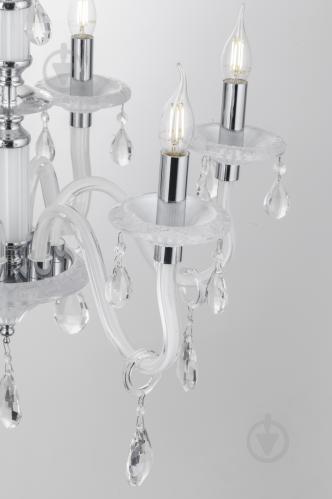 Люстра подвесная Victoria Lighting 6x40 Вт E14 белый Arumi/SP6 - фото 4