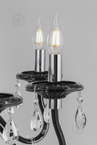 Люстра подвесная Victoria Lighting 8x40 Вт E14 черный Arumi/SP8 - фото 16