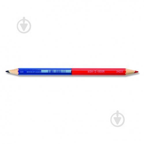 Карандаш цветной красно-синий 1327 Koh-i-Noor - фото 1