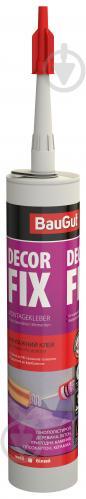 Клей монтажный BauGut Decor-Fix для элементов декора белый 310 мл - фото 1
