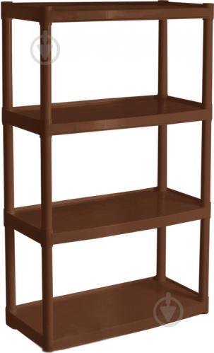 Стеллаж пластиковый Алеана коричневый 1370x820x370 мм коричневый - фото 1