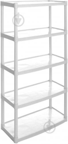 Стеллаж пластиковый Алеана 1800x820x370 мм белый - фото 1