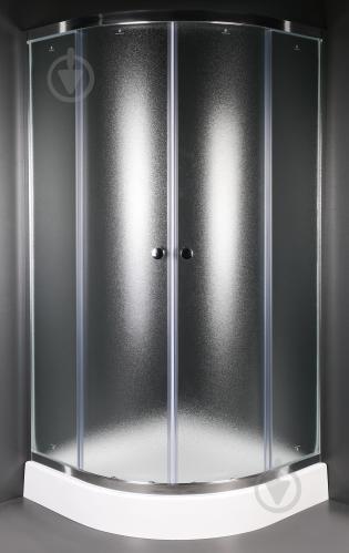 Душевая кабина EGO Quadrant Fine 90x90 профиль хром,стекло матовое - фото 2