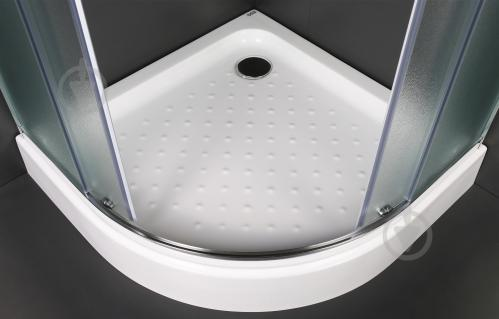 Душевая кабина EGO Quadrant Fine 90x90 профиль хром,стекло матовое - фото 3