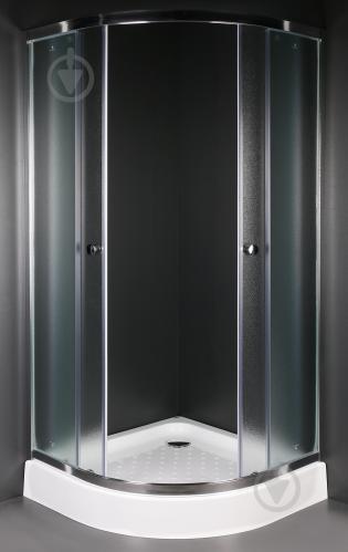 Душевая кабина EGO Quadrant Fine 90x90 профиль хром,стекло матовое