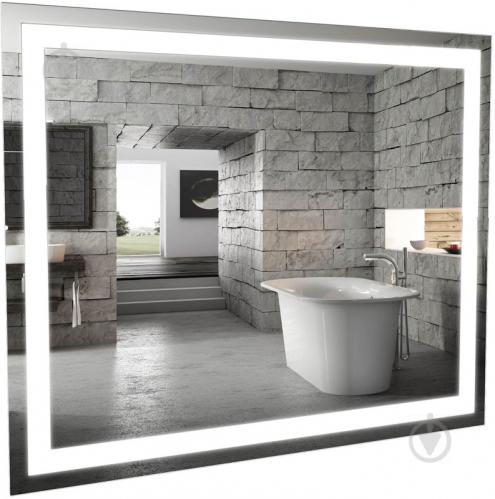 Зеркало Aqua Rodos Альфа 100х80 с подсветкой - фото 1