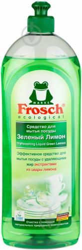 Бальзам для ручного миття посуду Frosch Зелений лимон 1л - фото 1