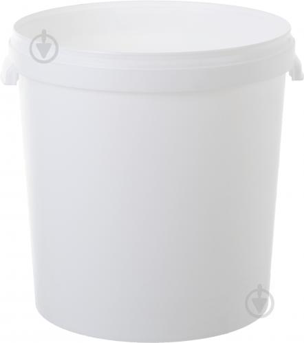 Ведро без крышки Пласт-Бокс хозяйственное белое 33 л - фото 1