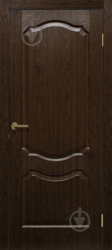 Дверне полотно ПВХ ОМіС Прима ПГ 600 мм каштан