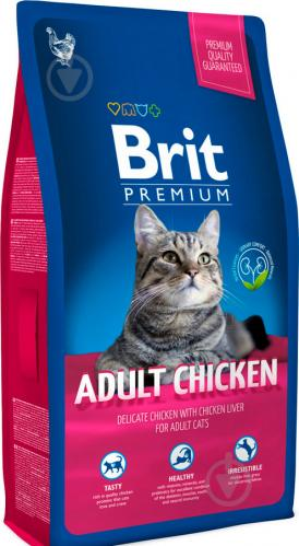Корм Brit Premium Cat Adult Chicken 1,5 кг - фото 1