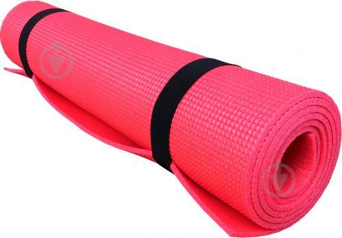 Коврик Lanor для фитнеса 1800х600х5 мм Релакс красный - фото 1
