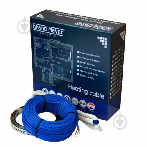 Нагрівальний кабель Grand Meyer 20 Вт/м.п. (2,9-4,6 м.кв) - фото 1