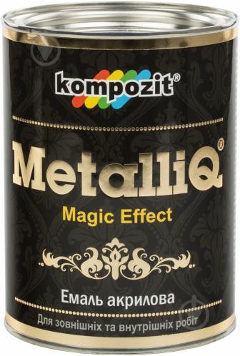 Декоративная краска Kompozit акриловая MetalliQ серебряный 0,77 л - фото 1