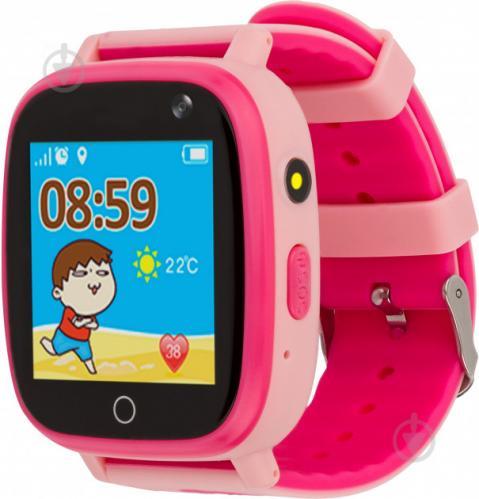 Смарт-часы AmiGo детские влагозащищенные GO001 pink (458092) - фото 1