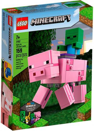 Конструктор LEGO Minecraft Свиня і малюк-зомбі 21157 - фото 1