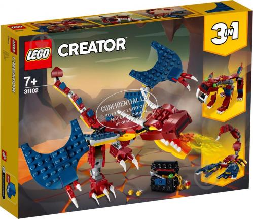 Конструктор LEGO Creator Вогняний дракон 31102 - фото 1