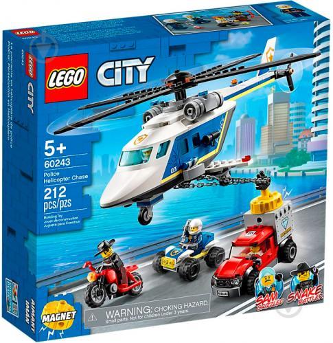 Конструктор LEGO City Погоня на поліцейському гелікоптері 60243 - фото 1