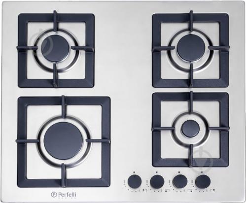 Варильна поверхня Perfelli Design HGM 6430 INOX SLIM LINE - фото 1