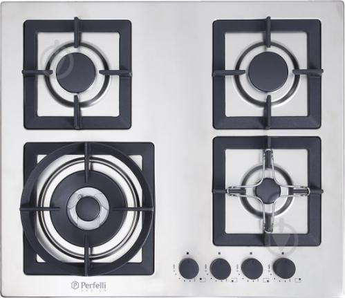 Варильна поверхня Perfelli Design HGM 6440 INOX SLIM LINE - фото 1