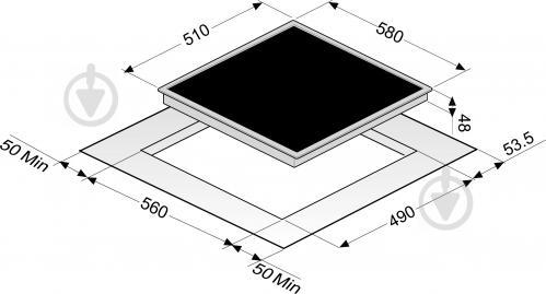 Варильна поверхня Perfelli Design HVC 6310 BL - фото 11