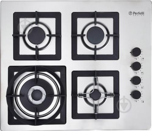 Варильна поверхня Perfelli Design HGM 6441 INOX SLIM LINE - фото 1