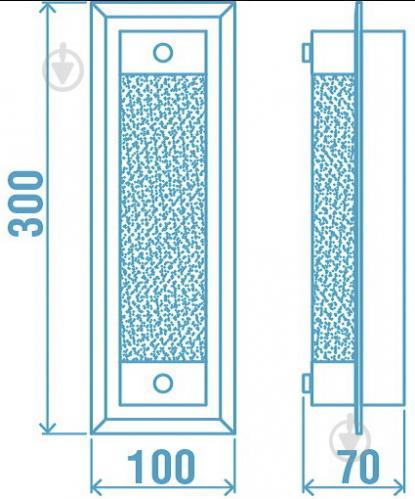 Світильник настінно-стельовий Victoria Lighting Linier 8 Вт хром Linier/AP8 - фото 4
