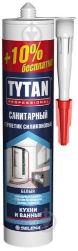 Герметик силиконовый Tytan EXTRA 10% санитарный белый 310 мл - фото 1