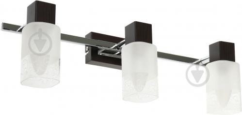 Спот Victoria Lighting 3x40 Вт E14 хром/венге MARS/PL3