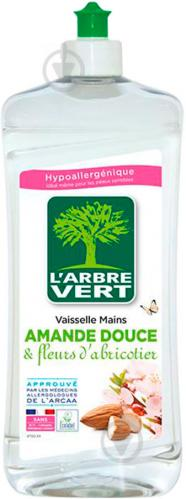 Гель для ручного миття посуду L'Arbre Vert Мигдаль/цвітіння абрикоса 0,75л - фото 1