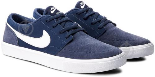 Кроссовки Nike SB PORTMORE II SOLAR 880266-410 р. 10 синий