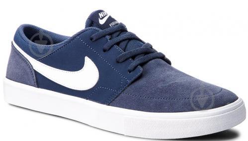 Кроссовки Nike SB PORTMORE II SOLAR 880266-410 р. 10 синий - фото 2