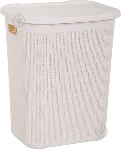 Корзина для белья Ucsan Plastik кремовая кремовый - фото 1