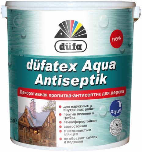 Пропитка Dufa dufatex Aqua Antiseptik орех шелковистый глянец 2,5 л - фото 2
