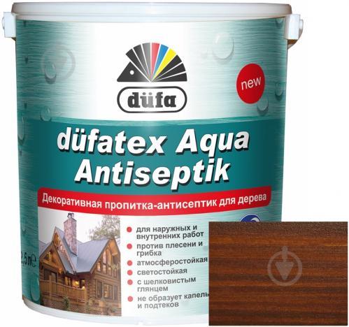 Пропитка Dufa dufatex Aqua Antiseptik орех шелковистый глянец 2,5 л - фото 1