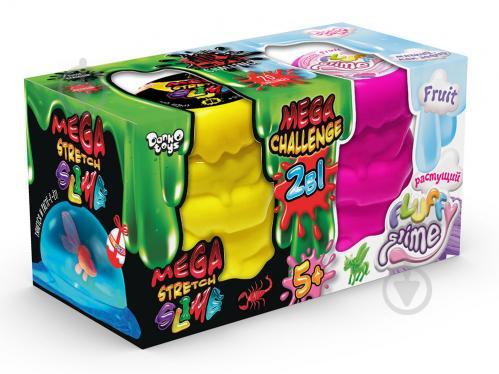 Ароматний слиз-лизун Danko Toys 2 в 1 Mega Stretch Slime и Fluffy Slime (рос.) FLS-03-01 - фото 1