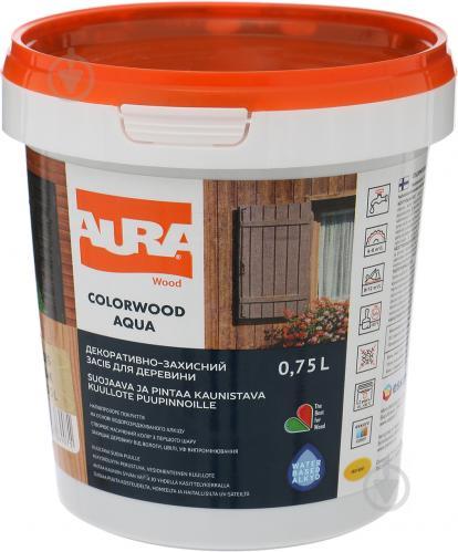 Лазурь Aura® ColorWood Aqua бесцветный полумат 0,75 л - фото 2
