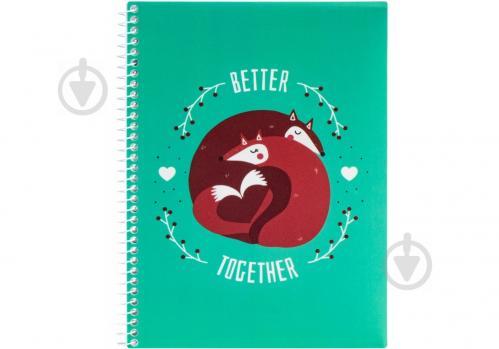 Блокнот Valentine: Better Together А5 80 арк. клітинка E21951-08 Economix - фото 1