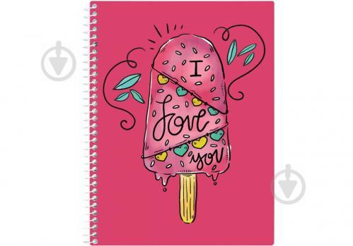 Блокнот Valentine: Ice Cream А5 80 арк. клітинка E21951-09 Economix - фото 1