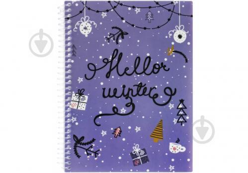 Блокнот Christmas: Hello Winter А5 60 арк. клітинка E21950-02 Economix - фото 1