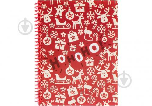 Блокнот Christmas: HoHoHo! А5 60 арк. клітинка E21950-03 Economix - фото 1