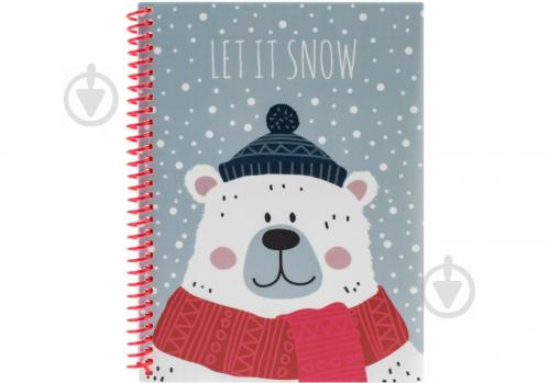 Блокнот Christmas: Let It Snow А5 60 арк. клітинка E21950-04 Economix - фото 1