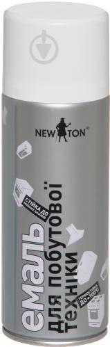 Эмаль аэрозольная для бытовой техники New Ton белый глянец 400 мл