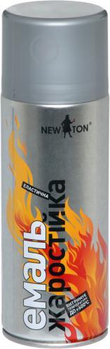 Емаль аерозольна жаростійка до 600 °С New Ton сріблястий 400 мл
