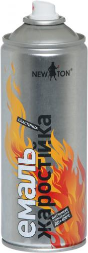 Емаль аерозольна жаростійка до 600 °С New Ton сріблястий 400 мл - фото 2