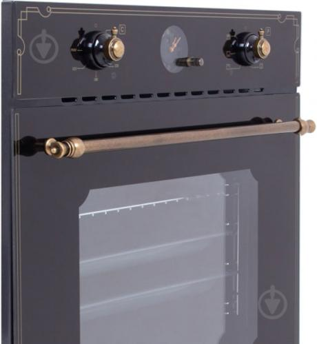 Духовой шкаф Perfelli BOE 6645 BL ANTIQUE GLASS - фото 2