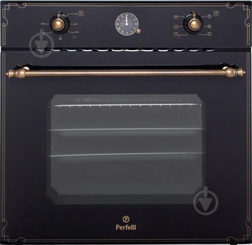 Духовой шкаф Perfelli BOE 6645 BL ANTIQUE GLASS - фото 1